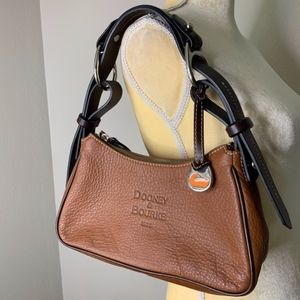 Dooney & Bourke Brown Leather Hand Bag Authentic